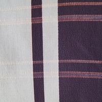 【単衣羽織】砂色×こげ茶色 格子縞 お召し地 単衣羽織