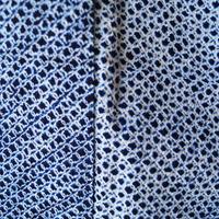 【浴衣】藍地 有松絞り 浴衣
