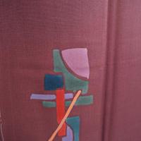 【袷・アウトレット】 カンディンスキー調抽象柄小紋