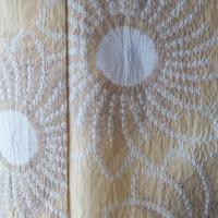 【浴衣】蜂蜜色系 花文 絞り浴衣