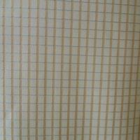 【袷】トールサイズ・薄飴色系の格子柄紬