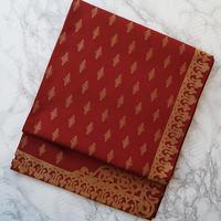 【ふくろ帯】川島織物製・茜色地金糸使いふくろ帯