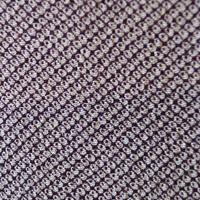 【袷】紫黒色 疋田染め 一つ紋小紋