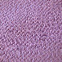 【帯揚げ】紫色 ちりめん 無地㋠