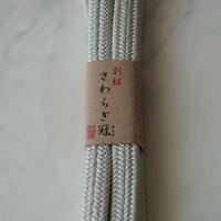 【帯締め】平田紐 冠組帯締め 白鼠色 撚り房  3