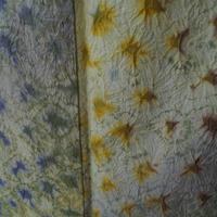 【単衣】淡黄色・柳色・赤葡萄色系絞り紬