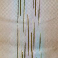 【帯揚げ】雄黄色×虹色暈かし 変わり縞 帯揚げ №210404