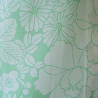 【浴衣】薄青磁色 草花文 浴衣