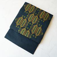 【なごや帯】百入茶(ももしおちゃ)色 花織 紬なごや帯