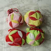 【七五三】絞り柄巾着 黄・緑・赤・桃