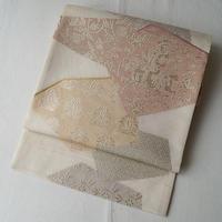 【夏・ふくろ帯】白地に名物裂風夏ふくろ帯