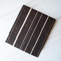 【なごや帯】焦げ茶色 縞柄 八寸なごや帯
