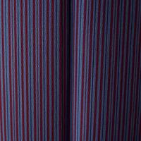 【袷】青鼠色 濃藍色×臙脂色 縞柄小紋