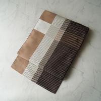 【なごや帯】格子縞 カラーブロック文 博多織 なごや帯