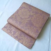 【夏ふくろ帯】織悦製 濃退紅(コイアラゾメ)色地 花文 紗 袋帯