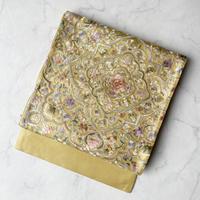 【ふくろ帯】金地華文刺繍ふくろ帯