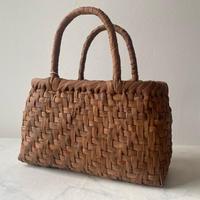 【籠】かごバッグ・山ぶどう・あじろ編み 小さめタイプ №210624㋑