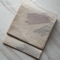 【夏ふくろ帯】白地流水文まいづる製絽ふくろ帯