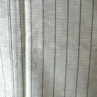 【袷】淡い草色縞柄紬  5k1
