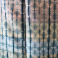 【袷】高麗納戸色 板締め絞り 紬