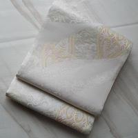 【夏ふくろ帯】白地笹名物更紗文絽ふくろ帯