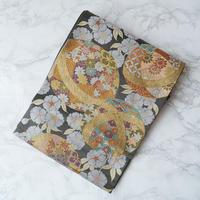 【ふくろ帯】大庭謹製・毬と八重桜文ふくろ帯