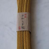【帯締め】平田紐 冠組帯締め   山吹茶 撚り房 6