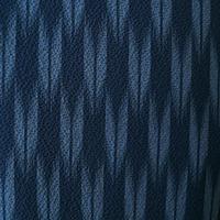 【袷】紺青色矢羽根柄小紋 5k80
