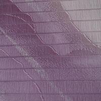 【帯揚げ・絽】濃淡紫色 曲線と暈し文様 絽 帯揚げ ㋸