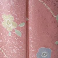 【袷】トールサイズ・桃色地花柄小紋