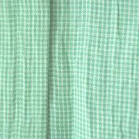 【夏・麻】薄緑色の極小千鳥格子 小千谷縮 3k39