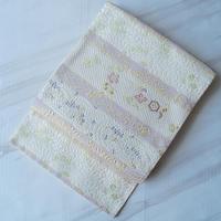 【ふくろ帯】淡色辻が花文 唐織りふくろ帯