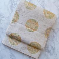 【ふくろ帯】亀甲に鳳凰と菊の丸文ふくろ帯