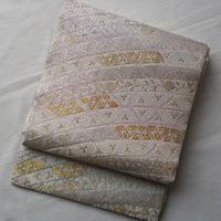 【ふくろ帯】檜扇菖蒲と栂の袋帯