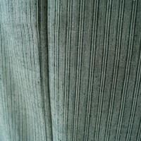 【袷】青磁(せいじ)色縞文 機織縞結城紬