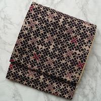 【ふくろ帯】四つ花文ポリエステル袋帯