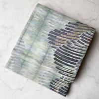 【ふくろ帯】青磁鼠 暈かし織り紋 洒落ふくろ帯
