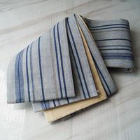 【半幅帯】濃淡青の縞 泰荘麻 半幅帯