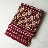 【ふくろ帯】ダークガーネット地 カシミール段文 たつむら製 ふくろ帯