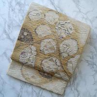 【ふくろ帯】辻が花文鱗ふくれ織地紋ふくろ帯