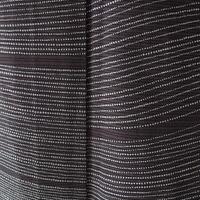 【夏・絽】黒鳶色 変わり横段 絽小紋