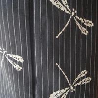 【浴衣】墨黒地 蜻蛉文 浴衣