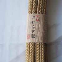 お取り置き中・【帯締め】平田紐 冠組帯締め  榛色 6