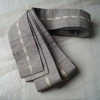 【men's 帯】灰地 両面使い 木綿 角帯