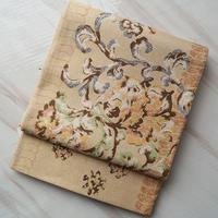 【ふくろ帯】飴色植物文翠洸織謹製ふくろ帯