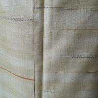 【袷】薄木蘭色(もくらんじき)色 変わり横段 結城紬