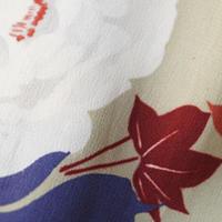 【袷羽織】アンティーク薔薇に紅葉柄羽織