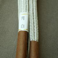【帯締め】平田紐 冠組帯締め 月白(げっぱく)