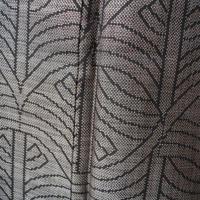 【袷】スモールサイズ・樹木幾何学文泥大島紬