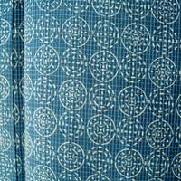 【夏・絹紅梅】藍色系 丸紋 絹紅梅きもの